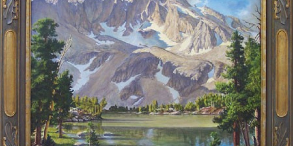 Richard Coons, Matlock Lake, University Peak, 30x36, oil/Belgian linen – Coons Gallery
