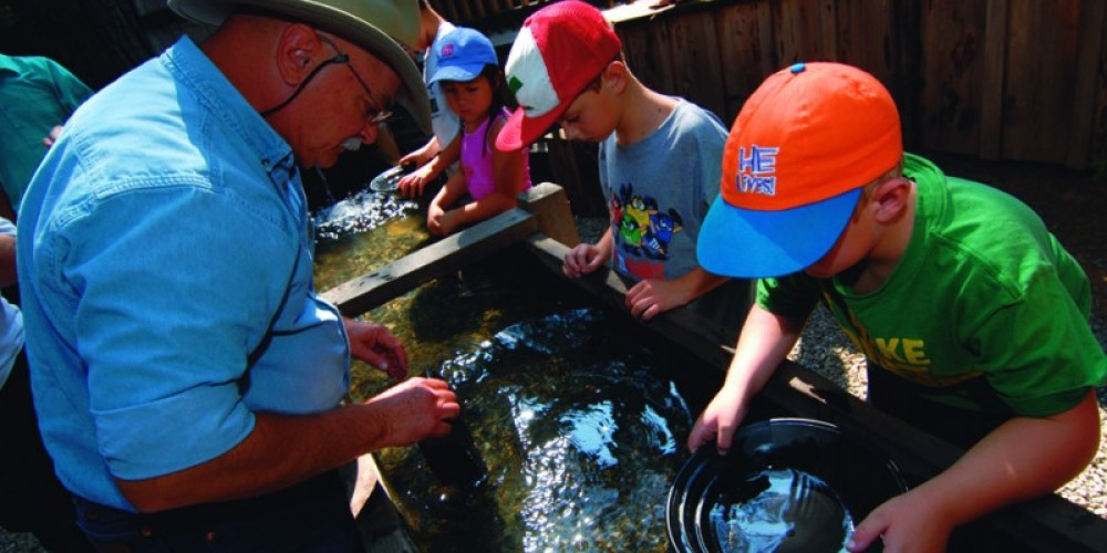 Gold panning experts teach the same methods used by gold rush miners in this areas more than 100 years ago.