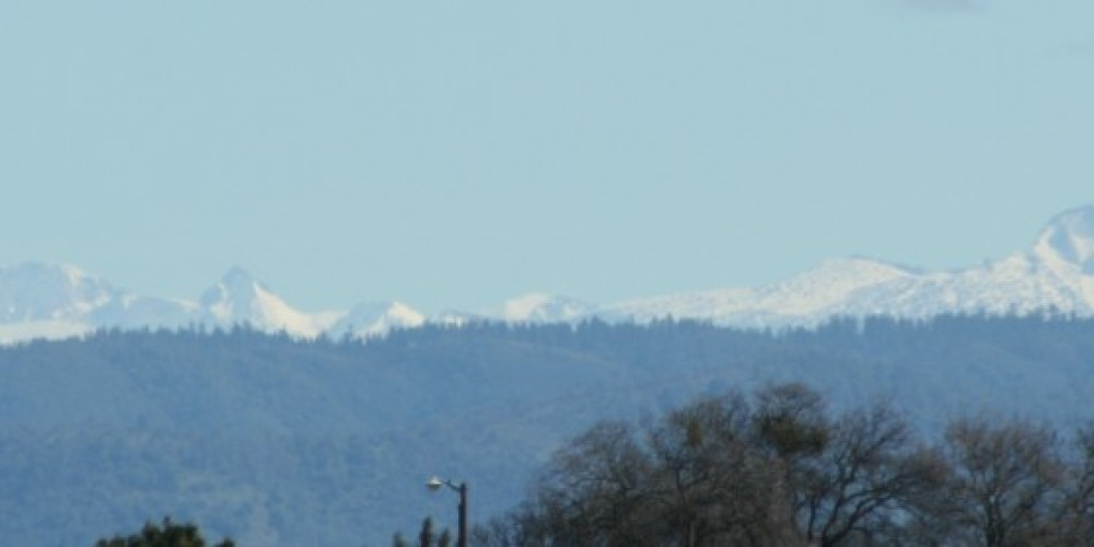 View of Yosemite back country peaks from visitor center deck. – Carol Russell
