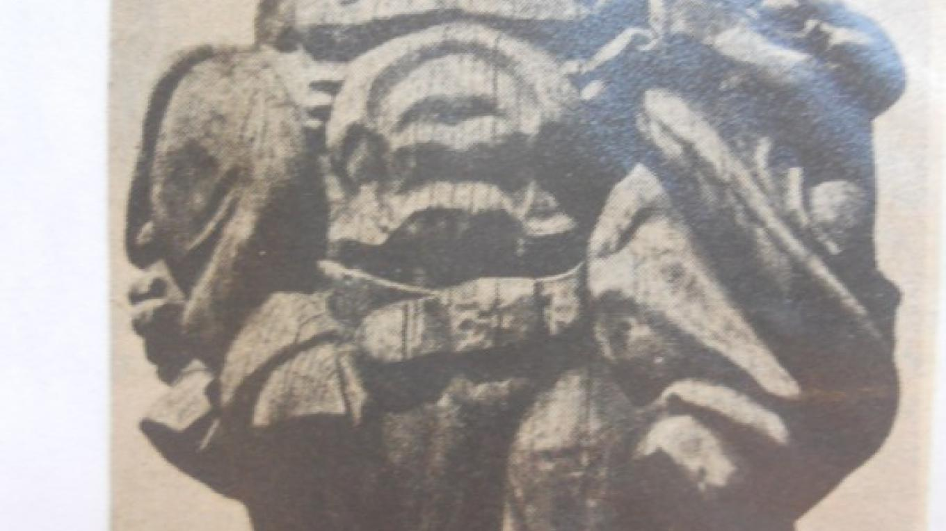 photo of Paul Bunyan when he was in Porterville, taken from a newspaper article, inside the Museum – Leah Catherine Launey