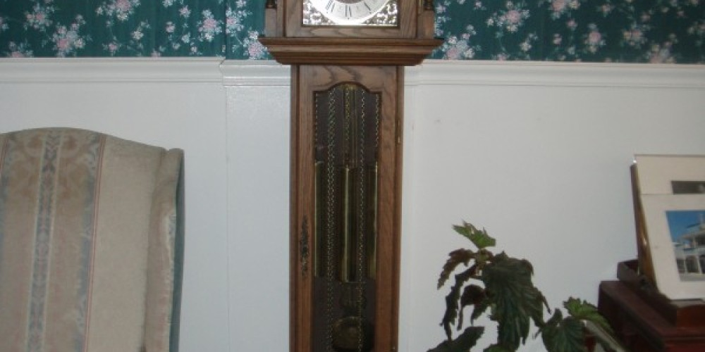 The Grandfather clocks are so stately! – Victor Niebylski