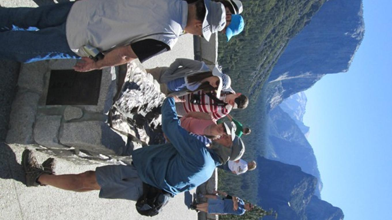 Demonstration of 3-D map at Yosemite Valley's Tunnel View.