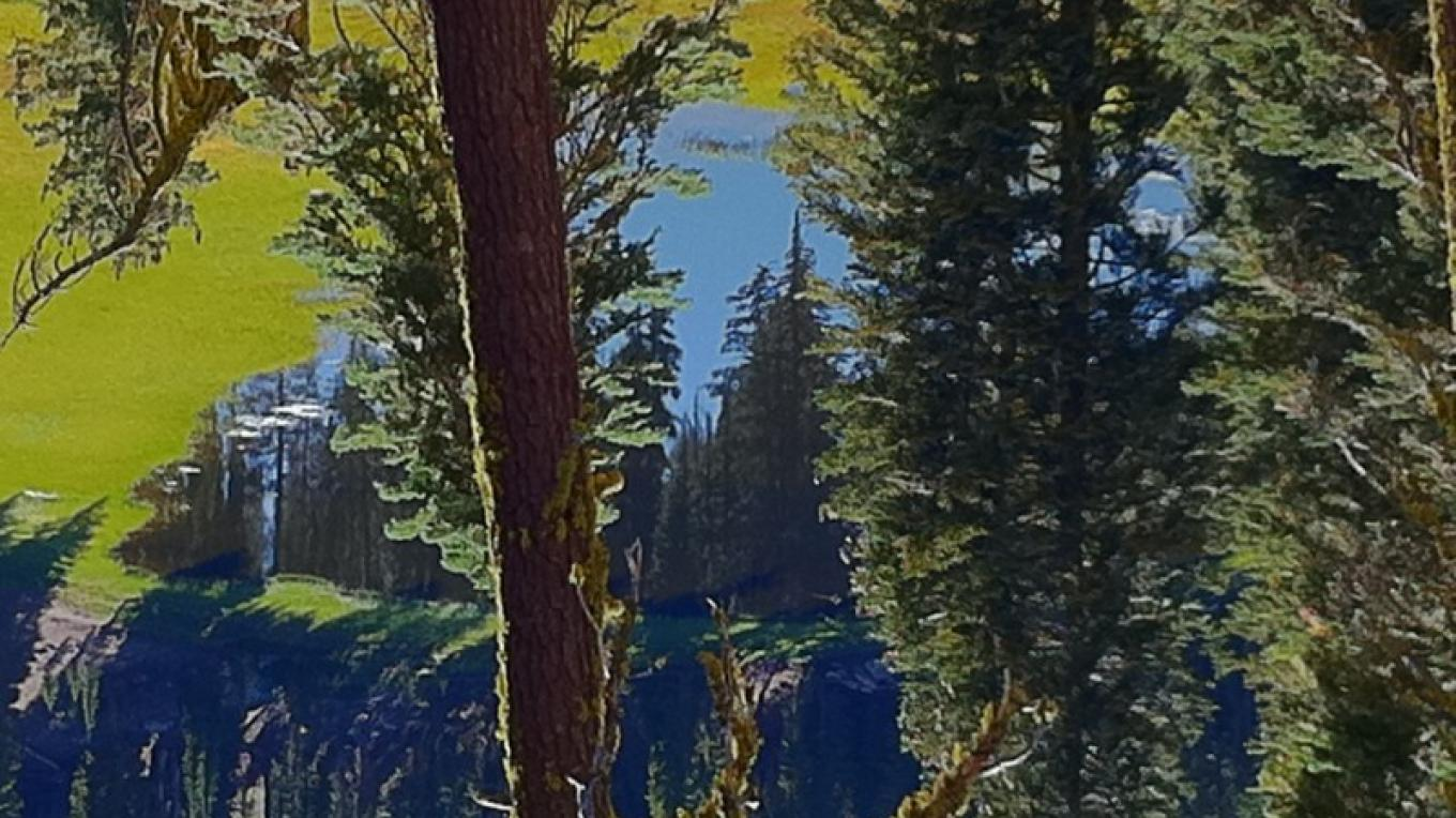 Cold Boiling Lake from one of the trails in the Lassen Volcanic National Park – by Allison Scull