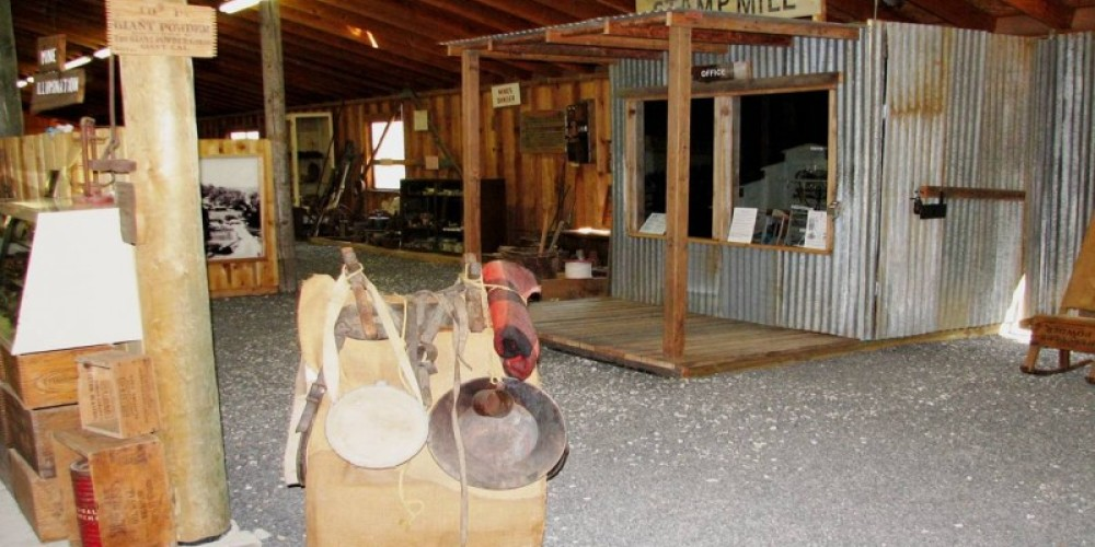 The mining exhibit is one of many in the extensive Angels Camp Museum. – angelscamp.gov