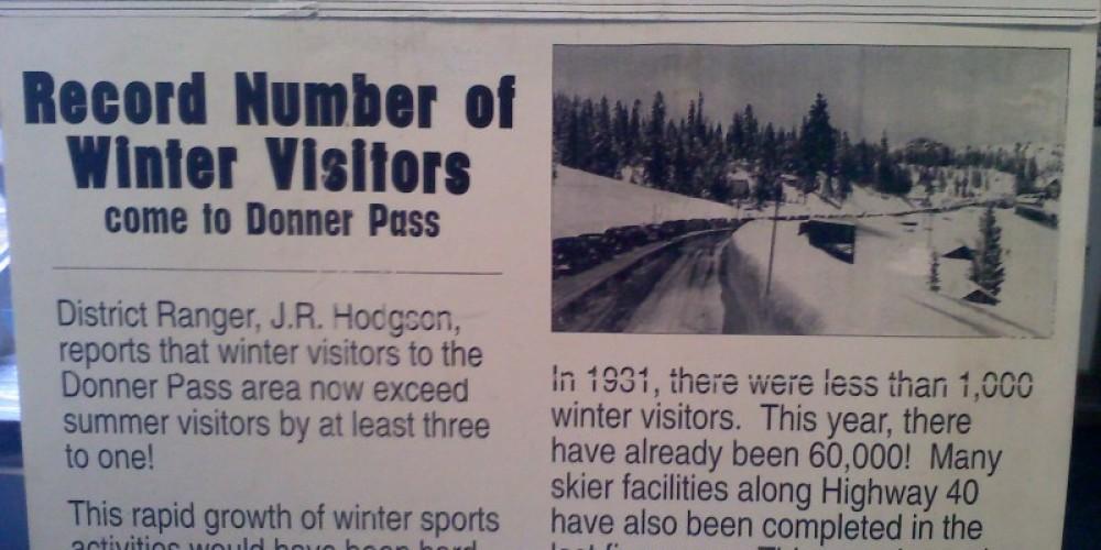 1936 Newspaper re: Donner Summit
