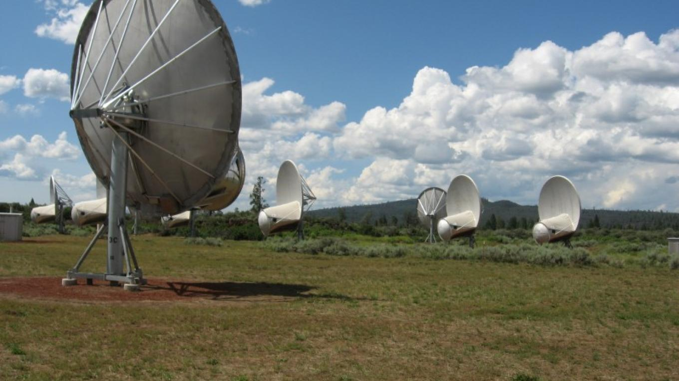 Allen Telescope Array at Hat Creek Radio Observatory. – Alicia Fitzgerald