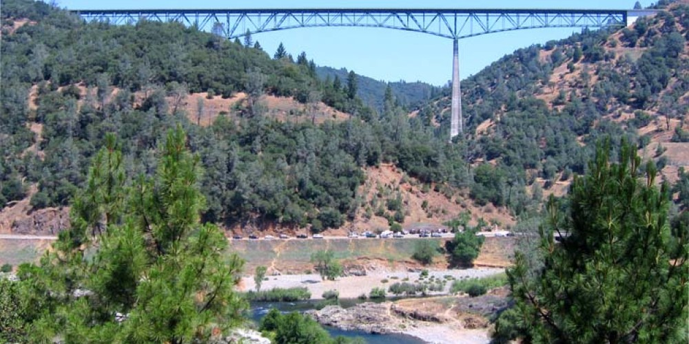 Auburn-Foresthill Bridge is one of the 5 highest bridges in the US. – CentralCaliforniaCycling.com