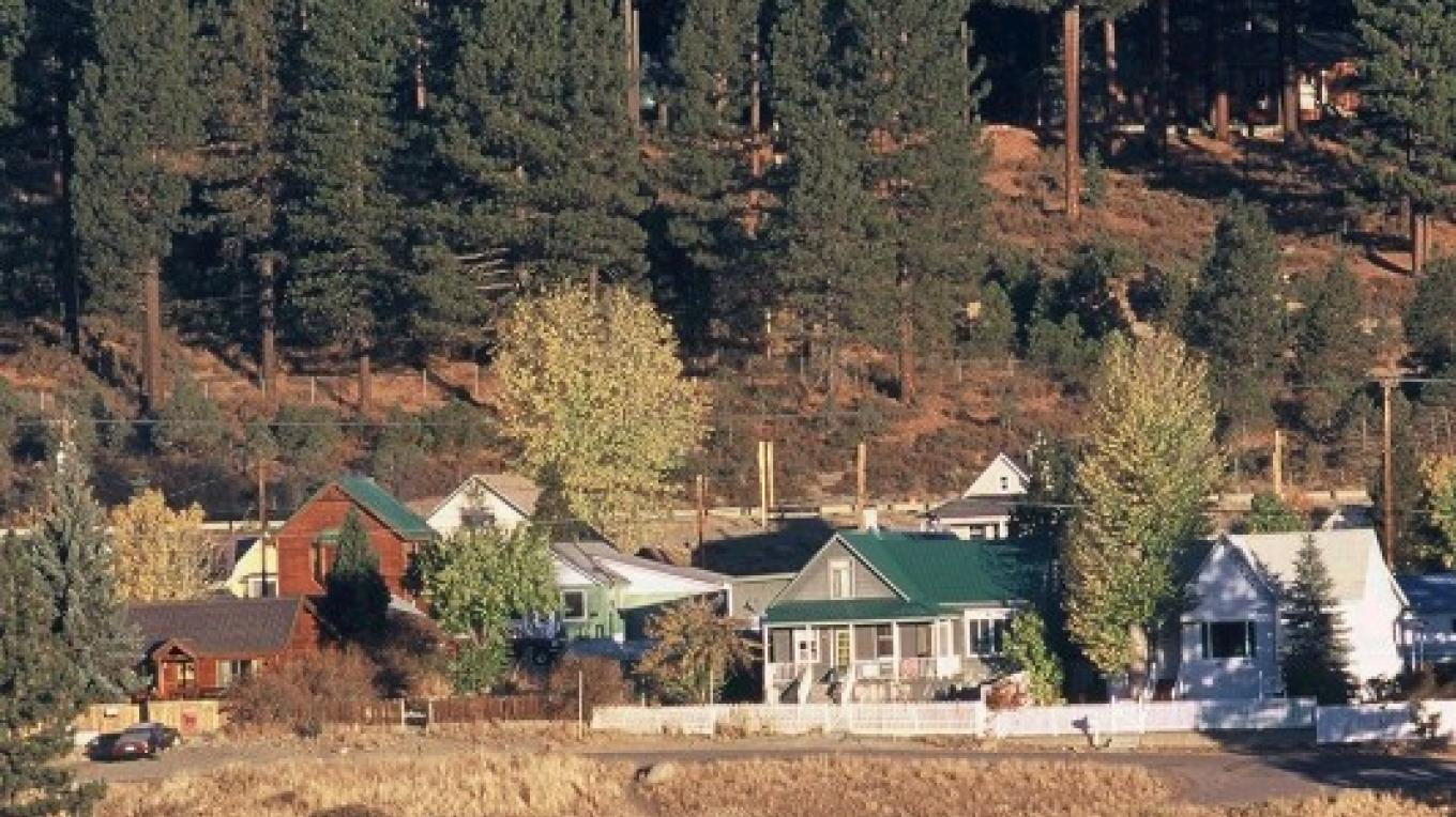 Hilltop view of Historic Downtown Truckee – Courtesy of Truckee Chamber of Commerce
