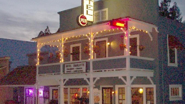 Hotel Charlotte at dusk – Lynn Upthagrove