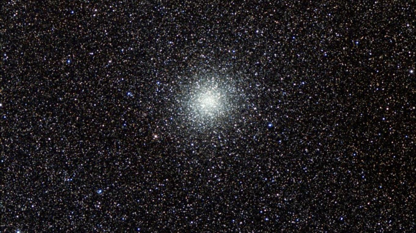 M22 Globular Star Cluster Deep sky photograph taken from Mt. Lasson, Callifornia by one of the observatory docents on September 19, 2009. – Frank Dibell
