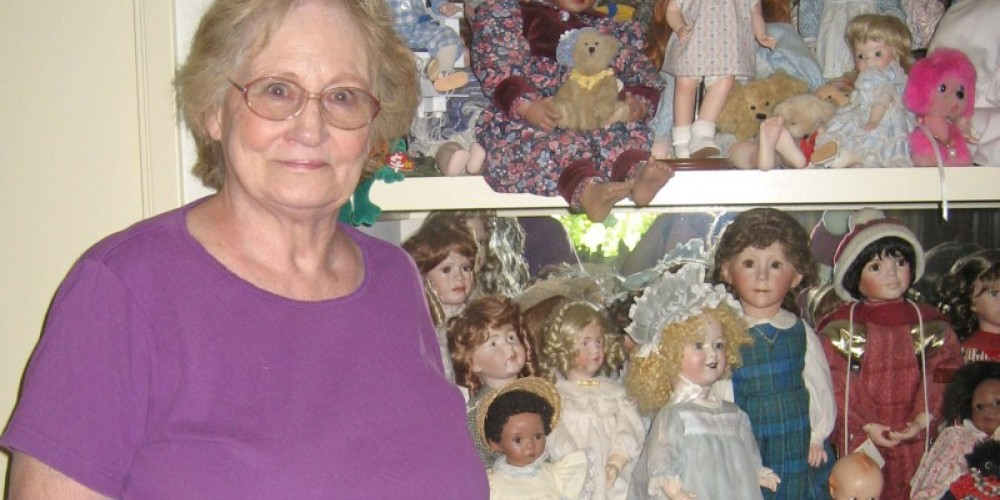 Margie Brown in her doll studio – Beryl Moody