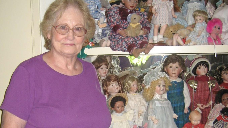 Margie Brown in her doll studio – Beryl Moody