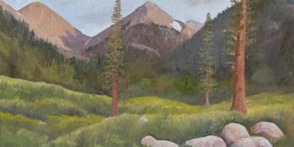 Mineral King Valley, oil painting