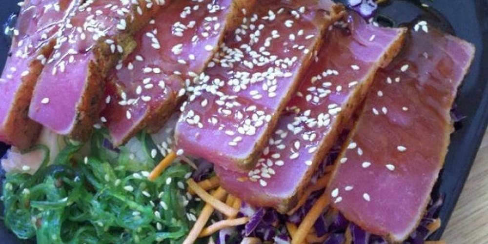 The Whoa Nellie even offers ahi sashimi