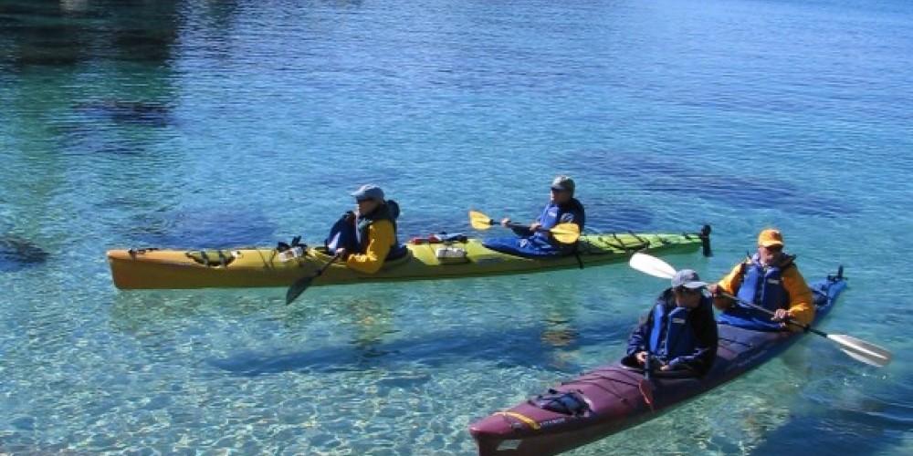 Paddling the crystaline waters of Lake Tahoe's east shore. – B. Kingman