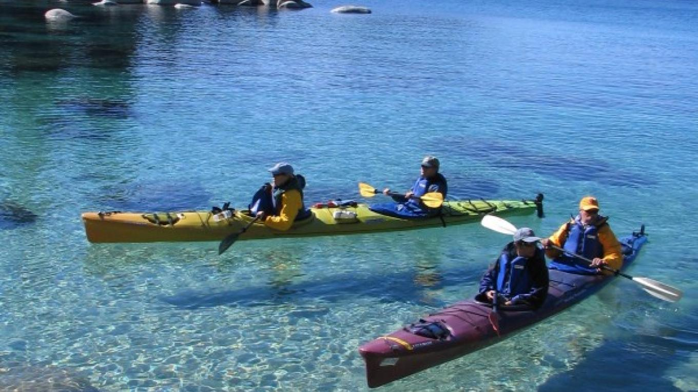 Paddling the crystaline waters of Lake Tahoe's east shore. – B. Kingman