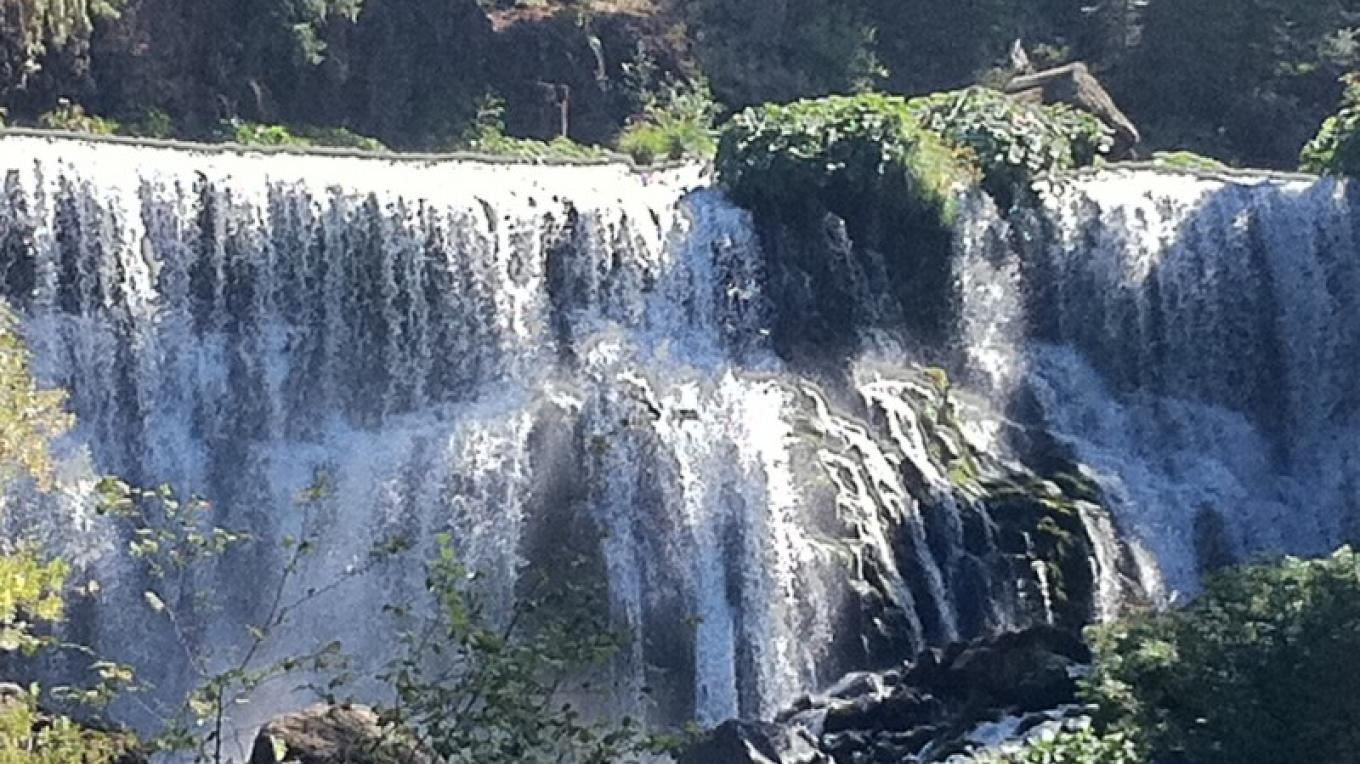 The McCloud River Falls. Thee Middle Falls are just one of the falls pictured here. – by Allison Scull