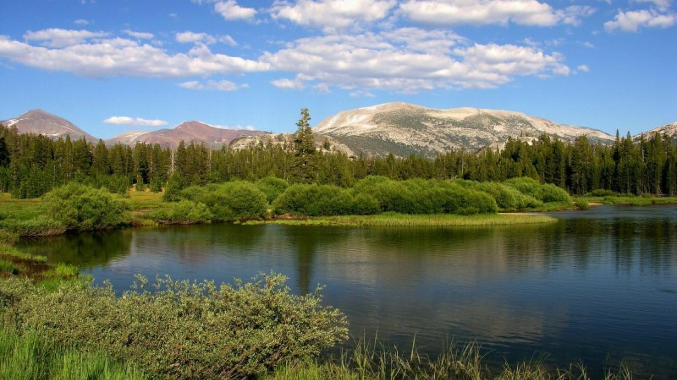 View of the Mt. Dana & Mt. Gibbs from the Tuolumne River