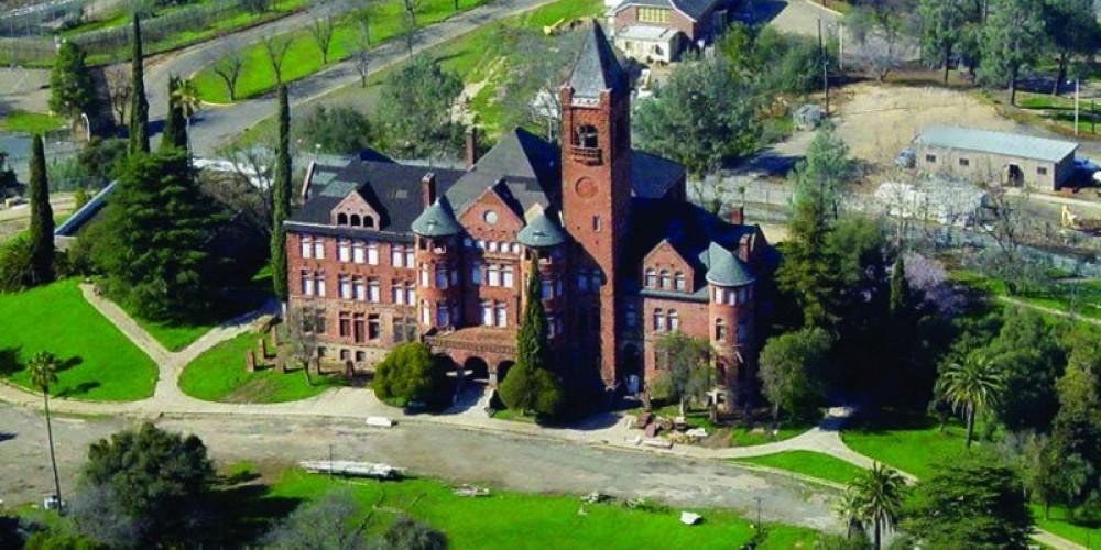 Aerial view of Preston Castle