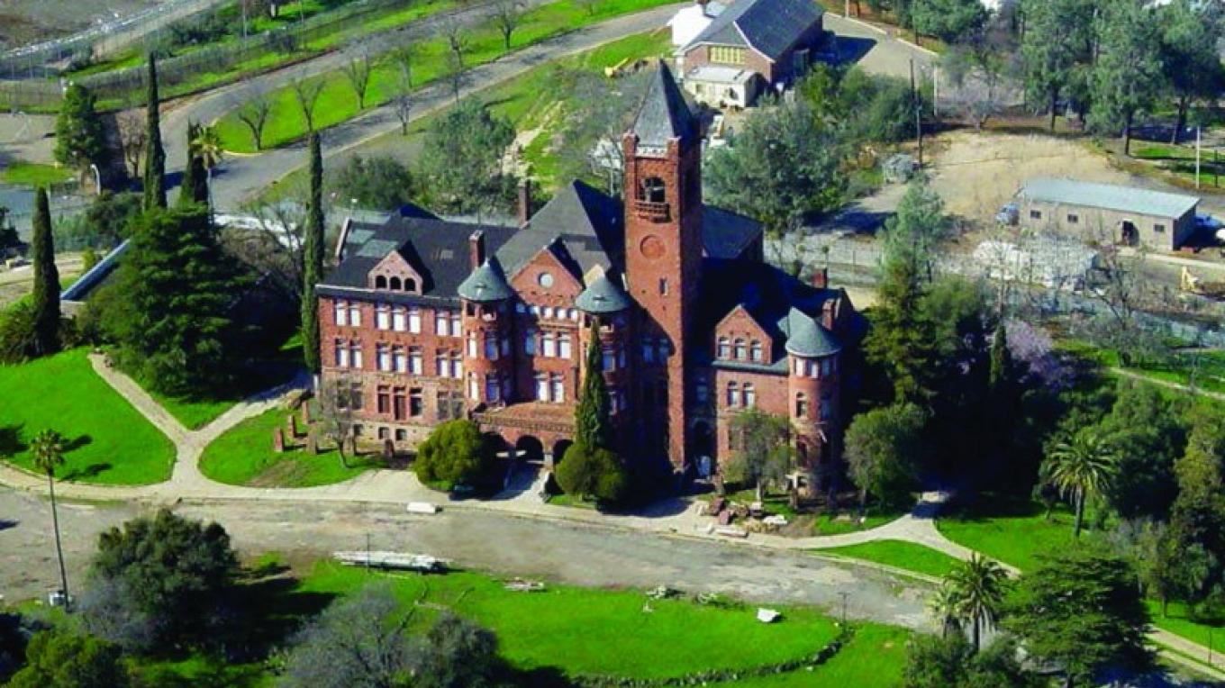 Aerial view of Preston Castle