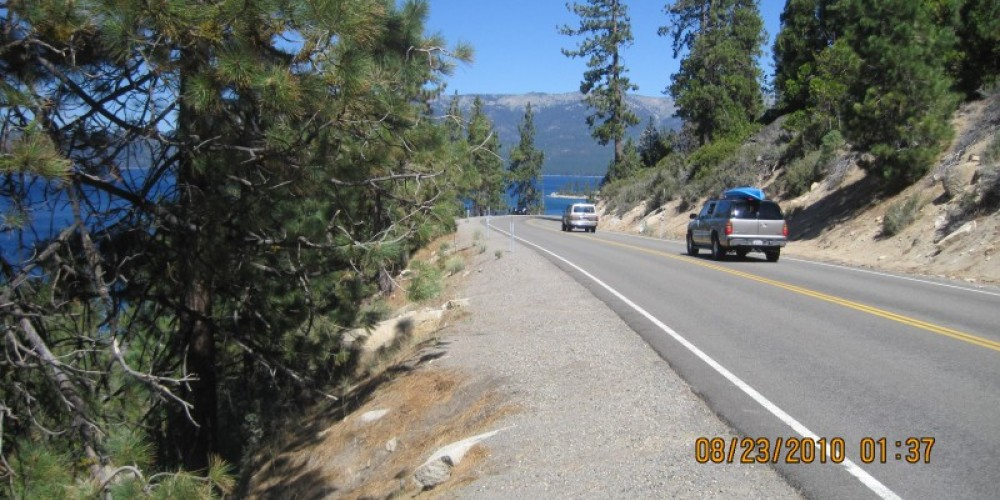 Lake Tahoe National Scenic Byway offers motorists the enjoyment of dramatically beautiful lake views with interesting places to stop along the 28-mile route. – Nevada Commission on Tourism
