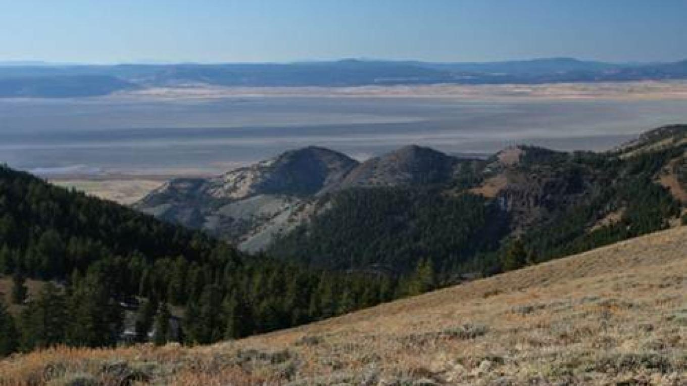 Ridge top view from the  High Grade National Recreation Trail overlooking Goose Lake. – Kerry Davis