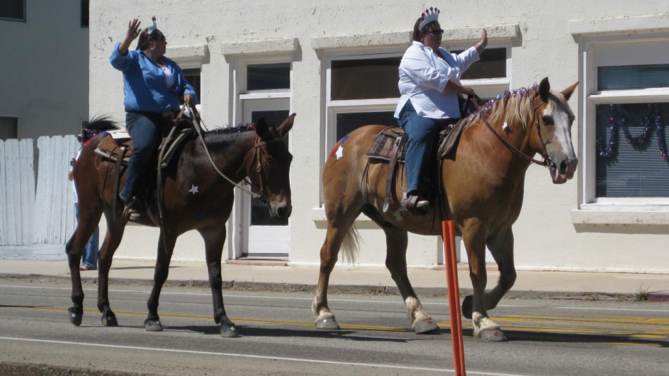 July 4th Equestrian entry - Locals celebrate the day in the county seat! – Jennifer Duncan