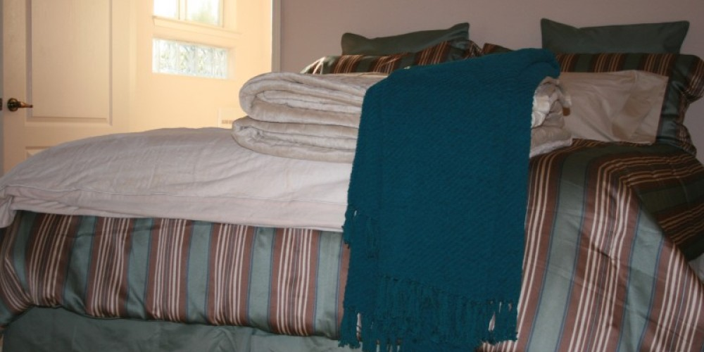 Plush bedding, with high thread count egyptian cotton sheets. – pam lockhart