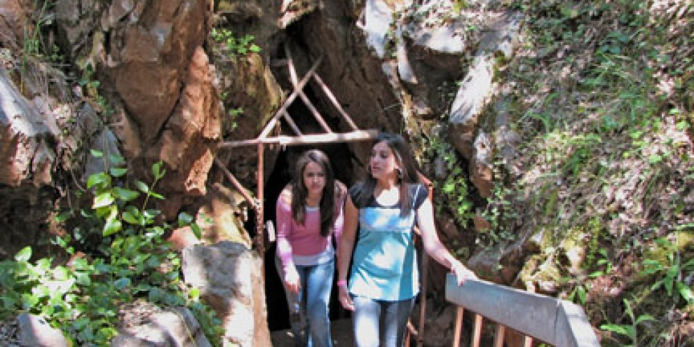 Visitors are seen here exiting Black Chasm Cavern. – Lisa Boulton