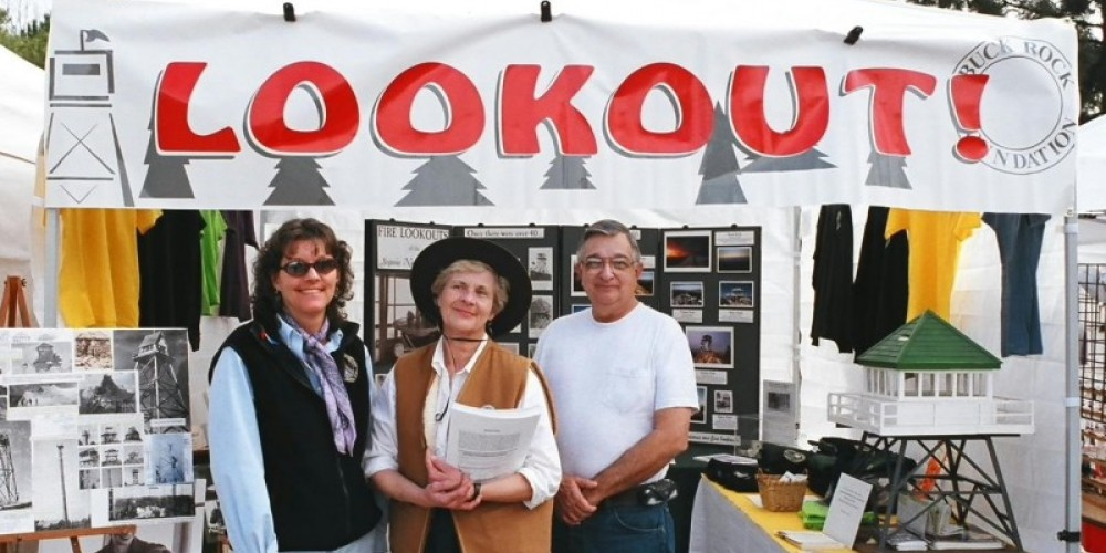 Buck Rock Foundation booth at Whiskey Flat Days. – Kathy Allison