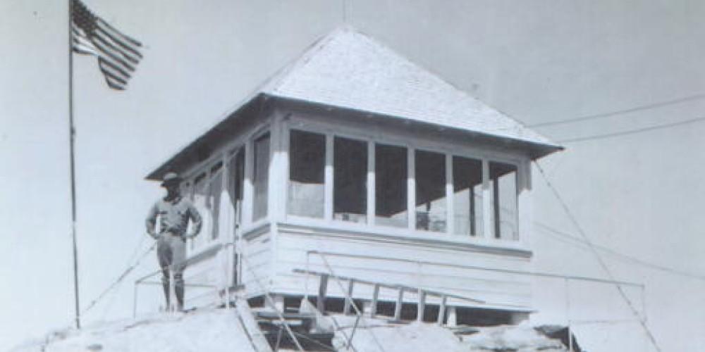 Buck Rock fire watcher Buck McGee circa 1925 – Sequoia National Forest archives