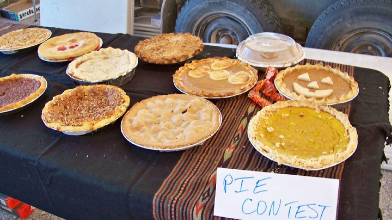 The favorite contest at the Harvest Festival, because we get to eat them afterwards, for a donation. – RFM