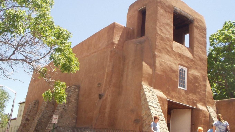 San Miguel chapel North elevation – archival photograph