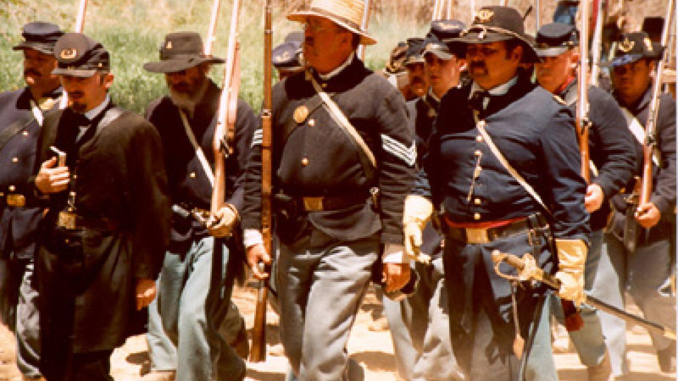 Civil War weekend is the first weekend of May, annually. New Mexico was involved in the War Between the States in 1862. – Roberto Valdez