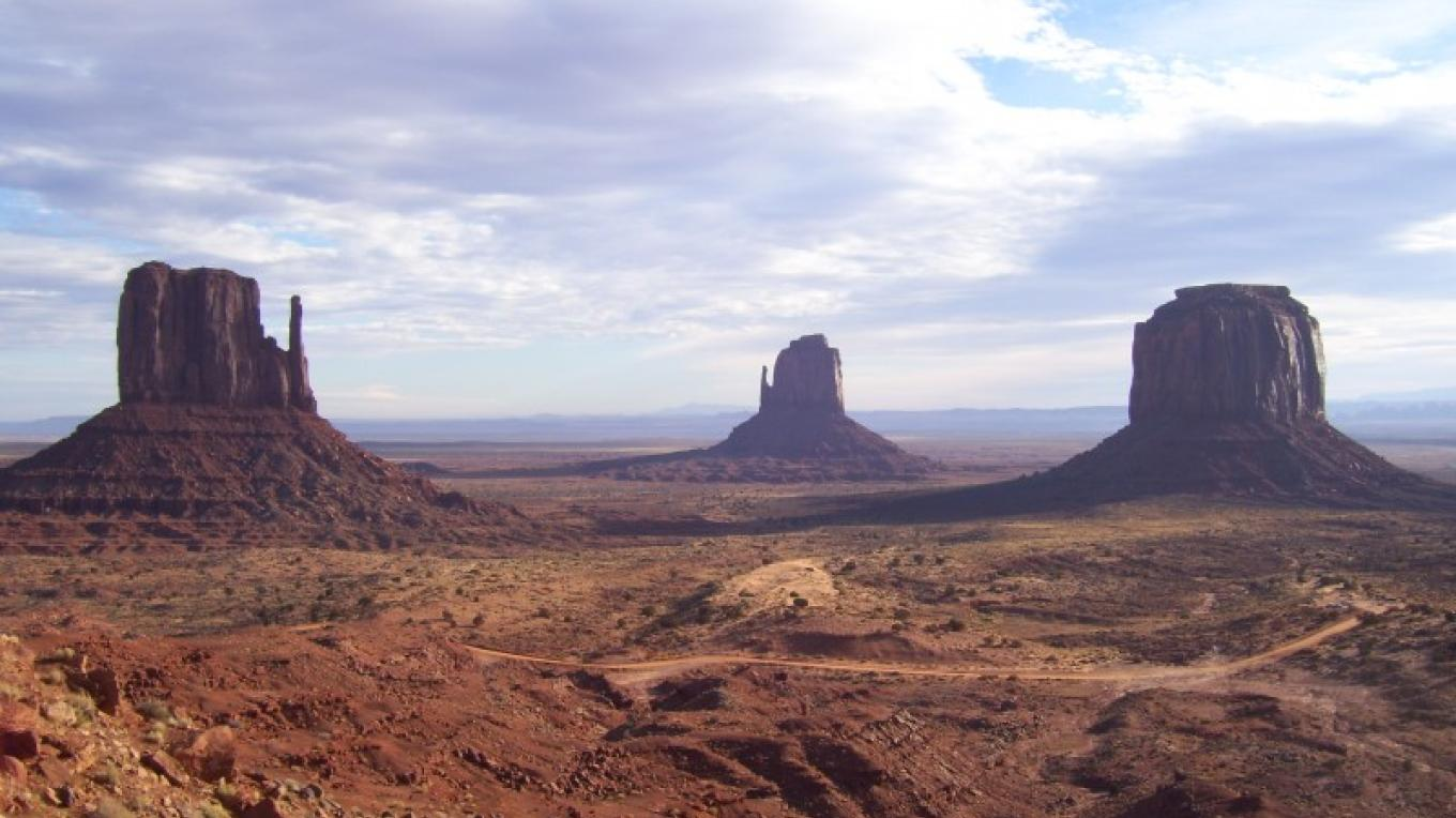 The Mittens at Monument Valley Navajo Tribal Park.