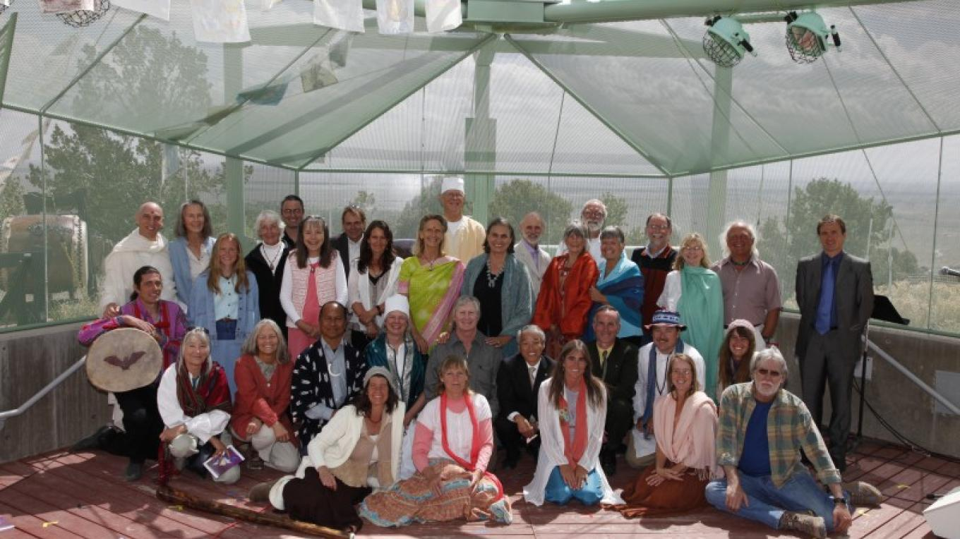 """""""Critical Mass for World Peace"""" Interfaith gathering at Shumei's 8th anniversary celebration May 2008. Crestone is home to more than 30 different religious and spiritual traditions from around the world. – Nick Mizuno"""
