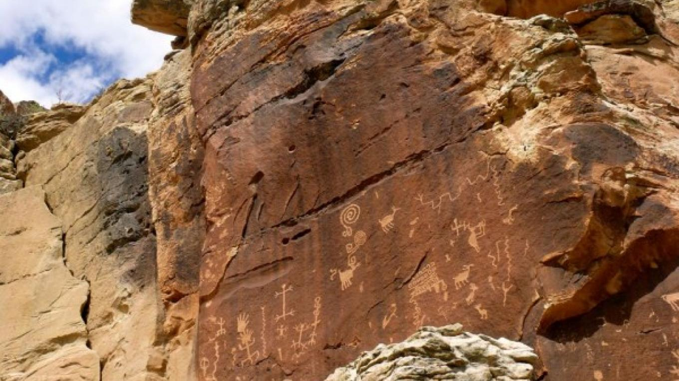 Rock art at Village of the Great Kivas. – Tom R. Kennedy