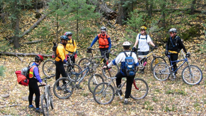 Mountain bikers taking a break. – Don J. Usner