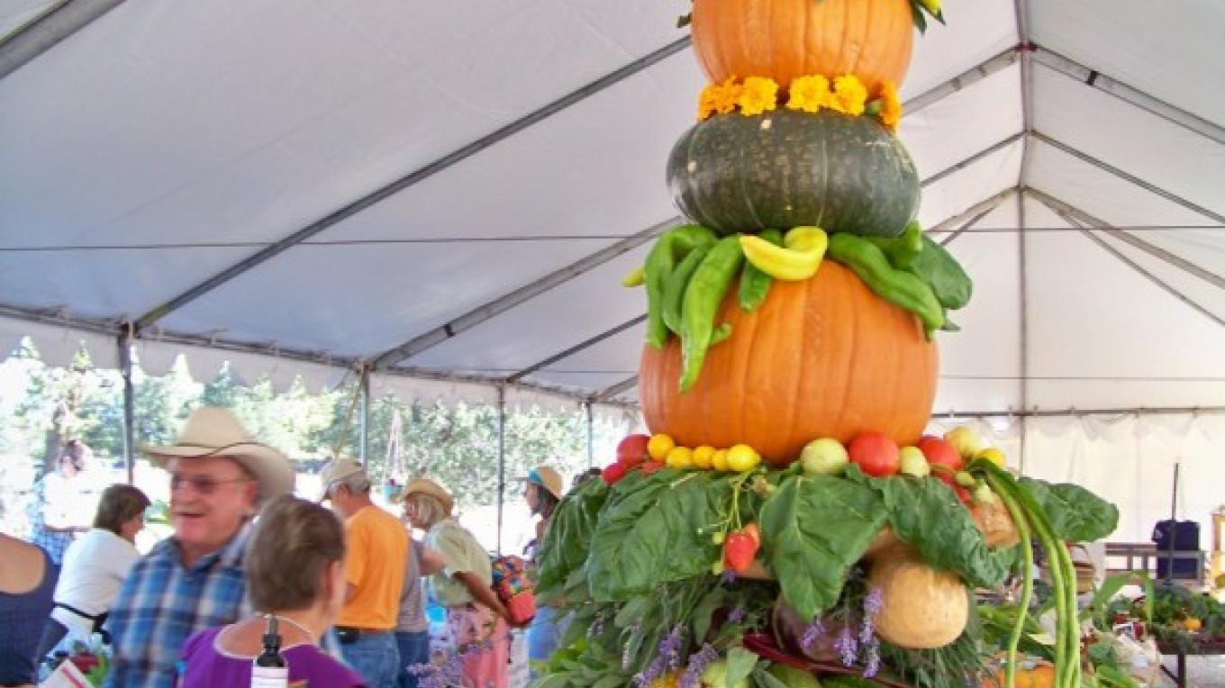 A beautiful harvest display created by El Morro Valley Ranch – J. Rossignol