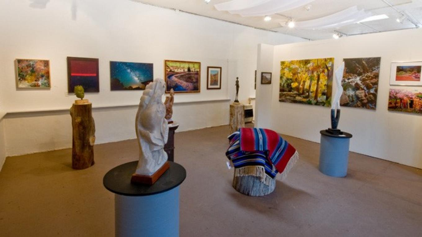 Jemez Fine Art Gallery shows feature Jemez Valley artists. – Theodore Greer
