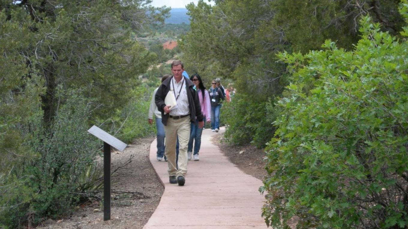 A fully accessible paved trail leads to the 12th century village of Escalante Pueblo on the grounds of the Anasazi Heritage Center. – Bureau of Land Management Anasazi Heritage Center