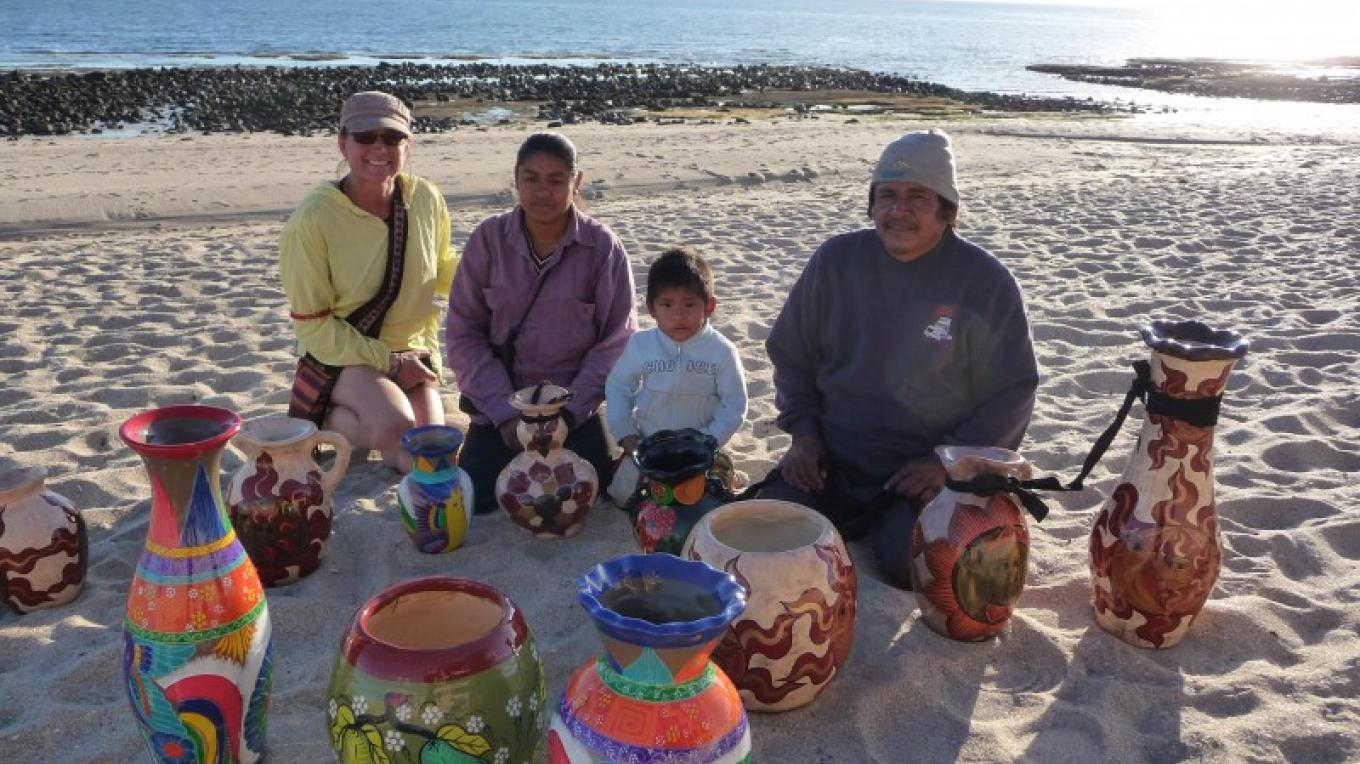 KimAnna buying direct from a family of potters in Mexico – Michael Cellura-Shields