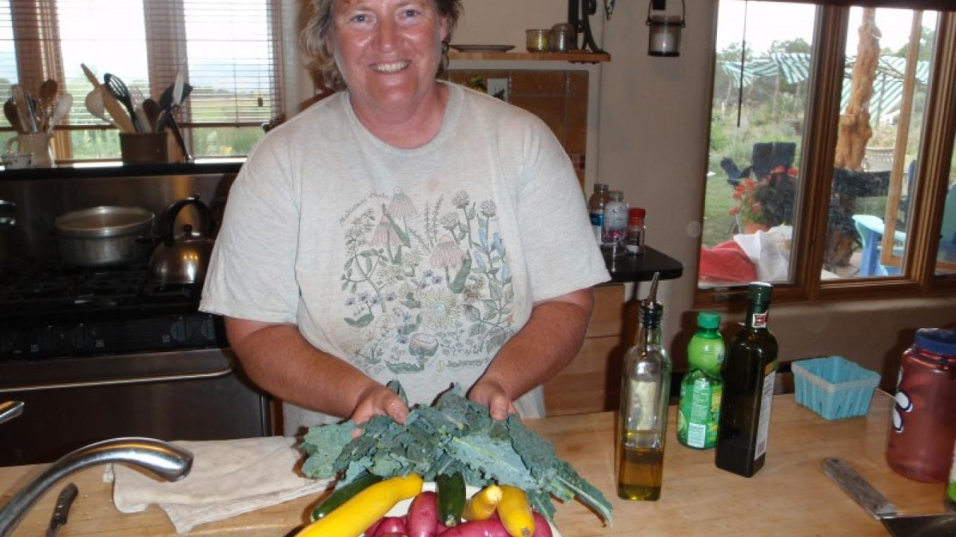 Kris Holstrom during the Permaculture Design Certificate, July 2010. – Robyn Wilson