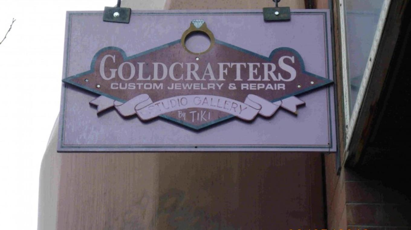 small Goldcrafters sign – Tiki Carpenter