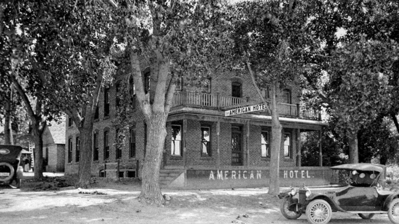 Historic American Hotel. Built in March of 1907.