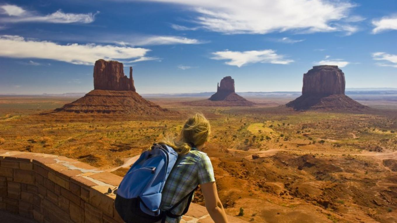 Enjoying the view at any time of the day or year in Monument Valley. – iStockPhoto