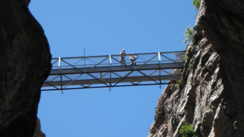 The Bridge high above the Box Canon Falls – Rick Noll