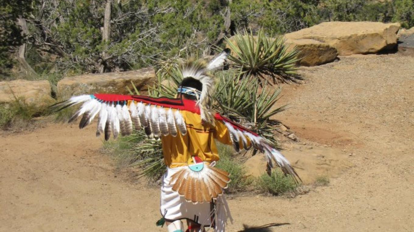 Eagle Dancer Performance at Mesa Verde National Park during Indian Arts and Culture Festival – Sandy Feutz