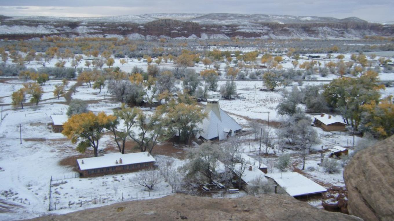 St Christopher's from the Bluff - Winter – Red Stevens