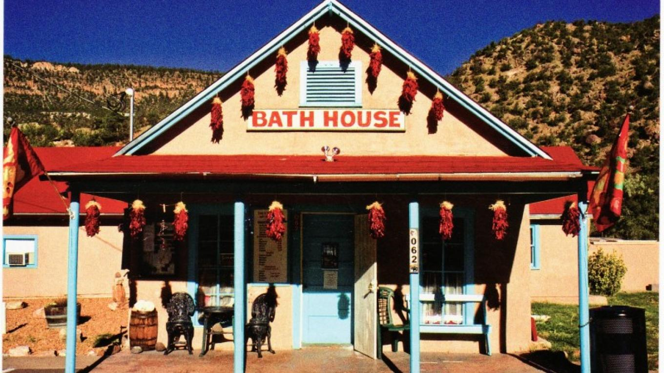 The historical Jemez Springs Bath House